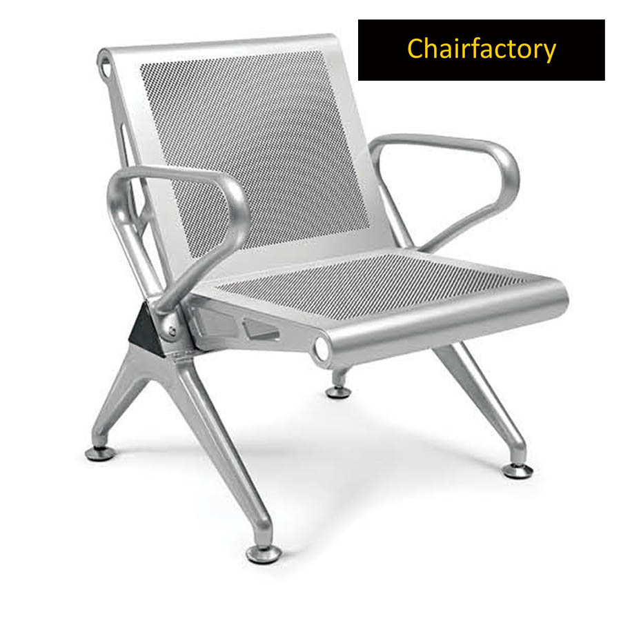 Jarvis 1 Seater Grey Airport Bench