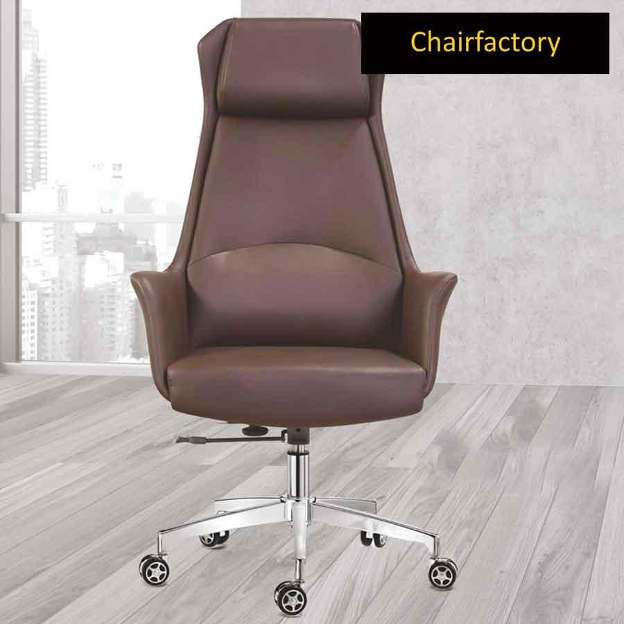 Balmain High Back Leather Chair