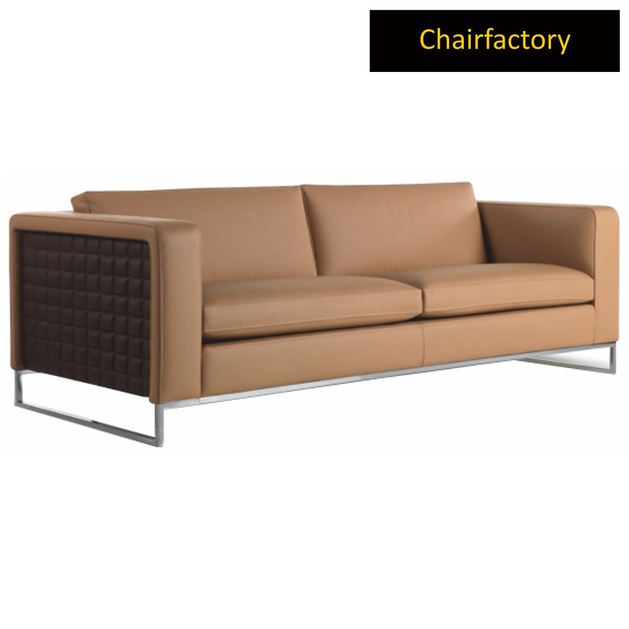 Camilla 2 Seater Leather Office Sofa