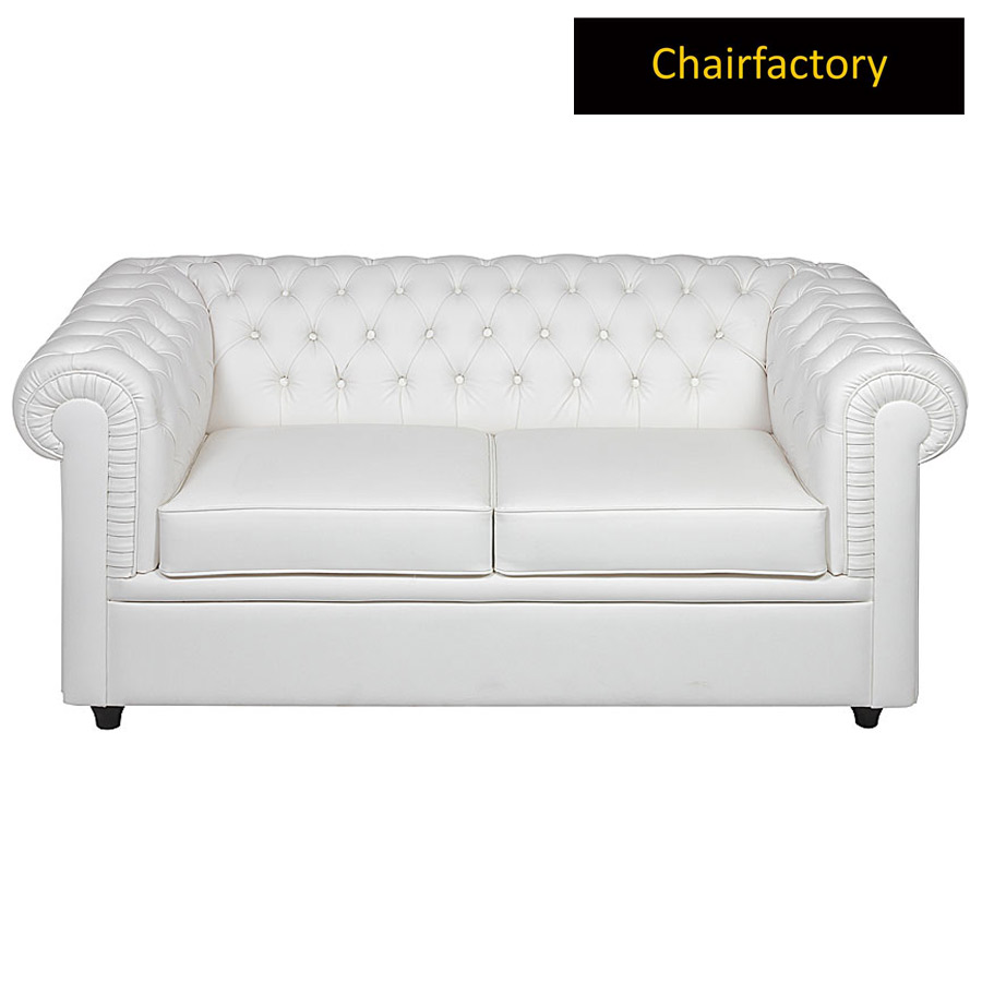 Conquer 2 Seater Chesterfield Leather Office Sofa