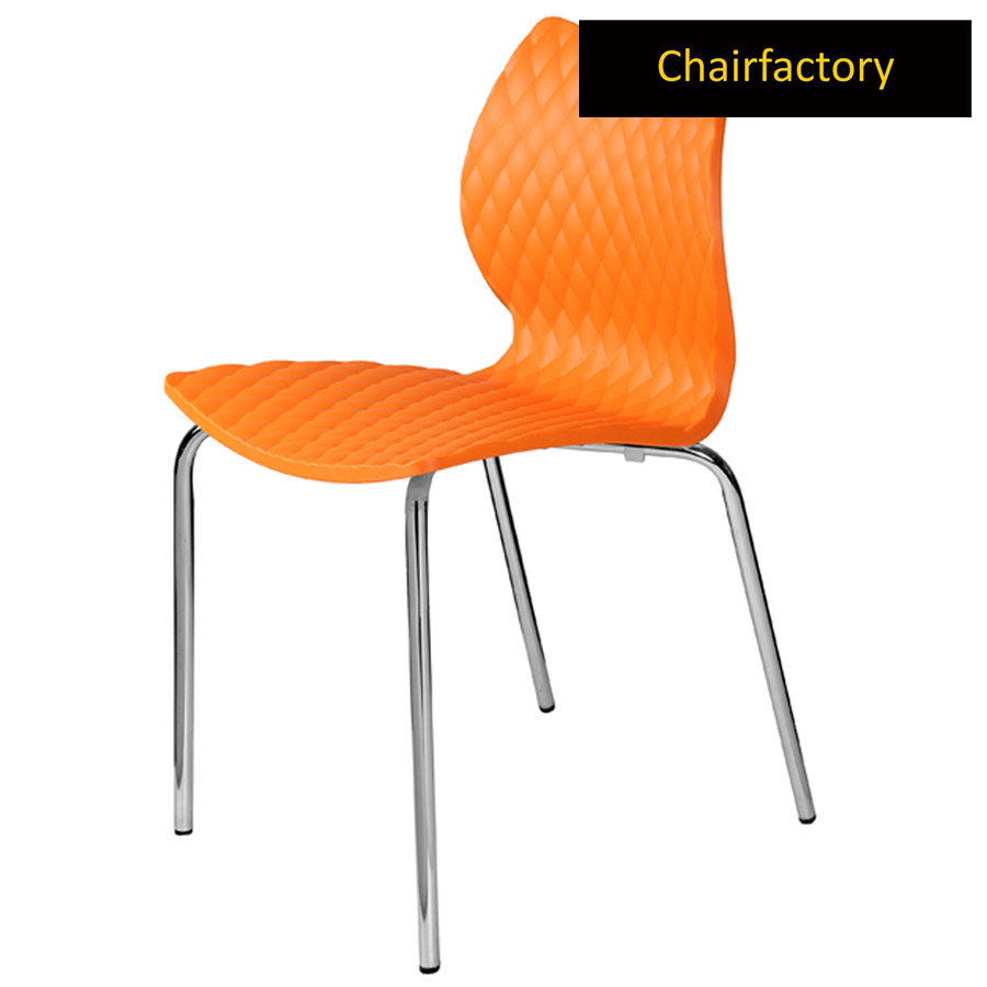 Crystalite Orange Cafe Chair