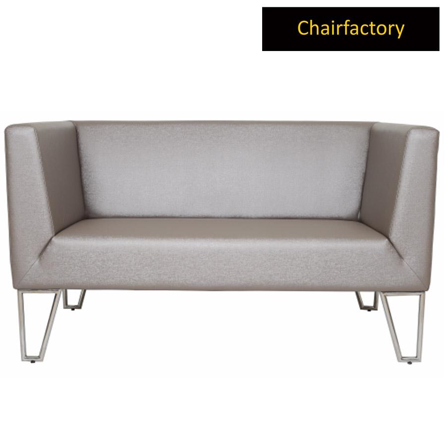 Damasio 2 Seater Leather Office Sofa