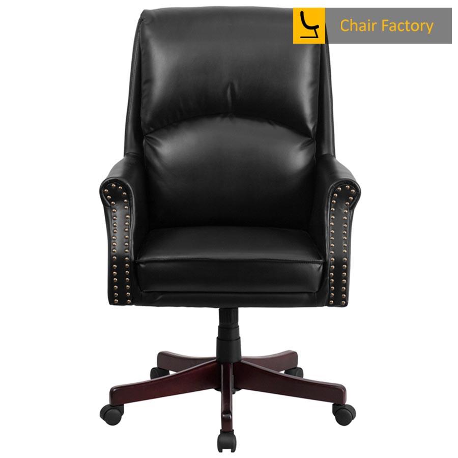 Duke Black High Back 100% Genuine Leather Chair