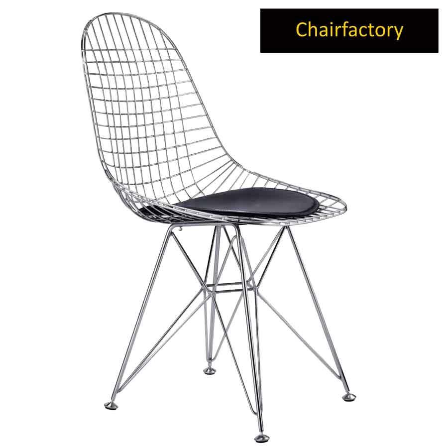 Eames Chrome Wiremesh Chair Replica