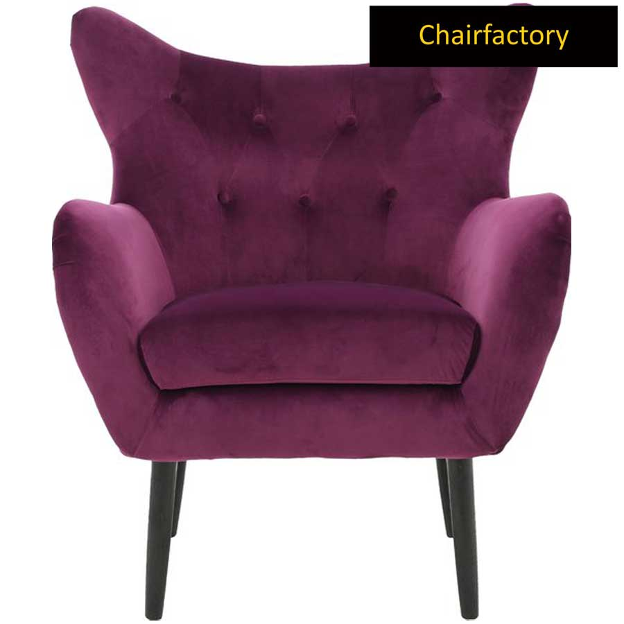 Glendale Burgundy Velvet Accent Chair