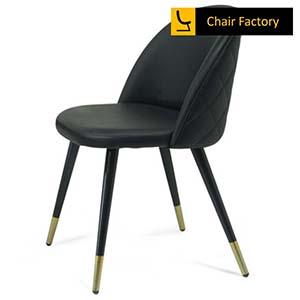 Golddust Black Cushioned Café Chair