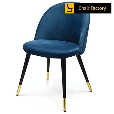 Golddust Blue Cushioned Café Chair