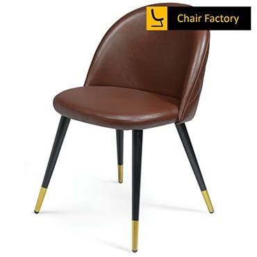 Golddust Brown Cushioned Café Chair