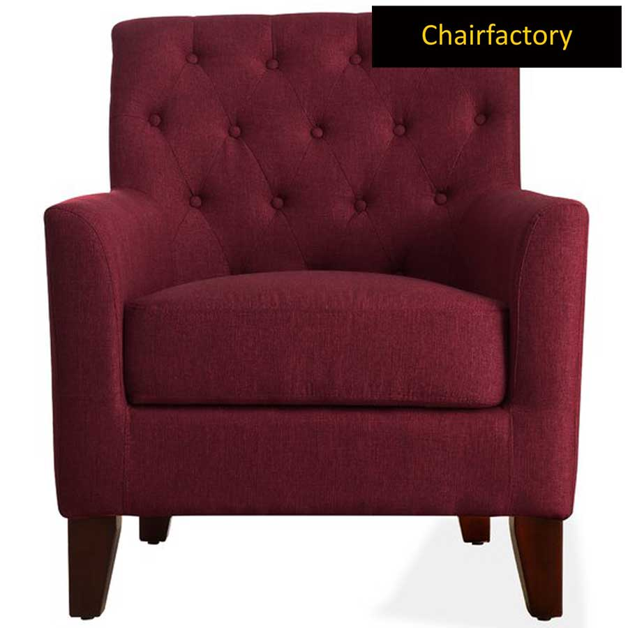 Goodfella Maroon Accent Chair