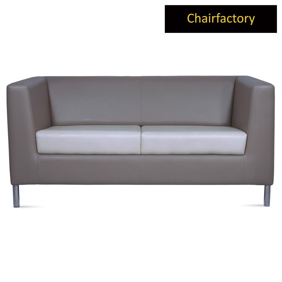 Henry 2 Seater Leather Office Sofa