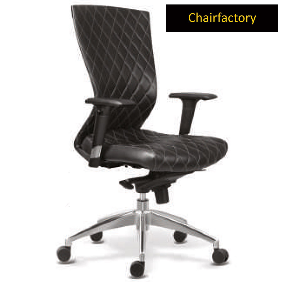Black Kinetic DX Mid Back Ergonomic Office Chair