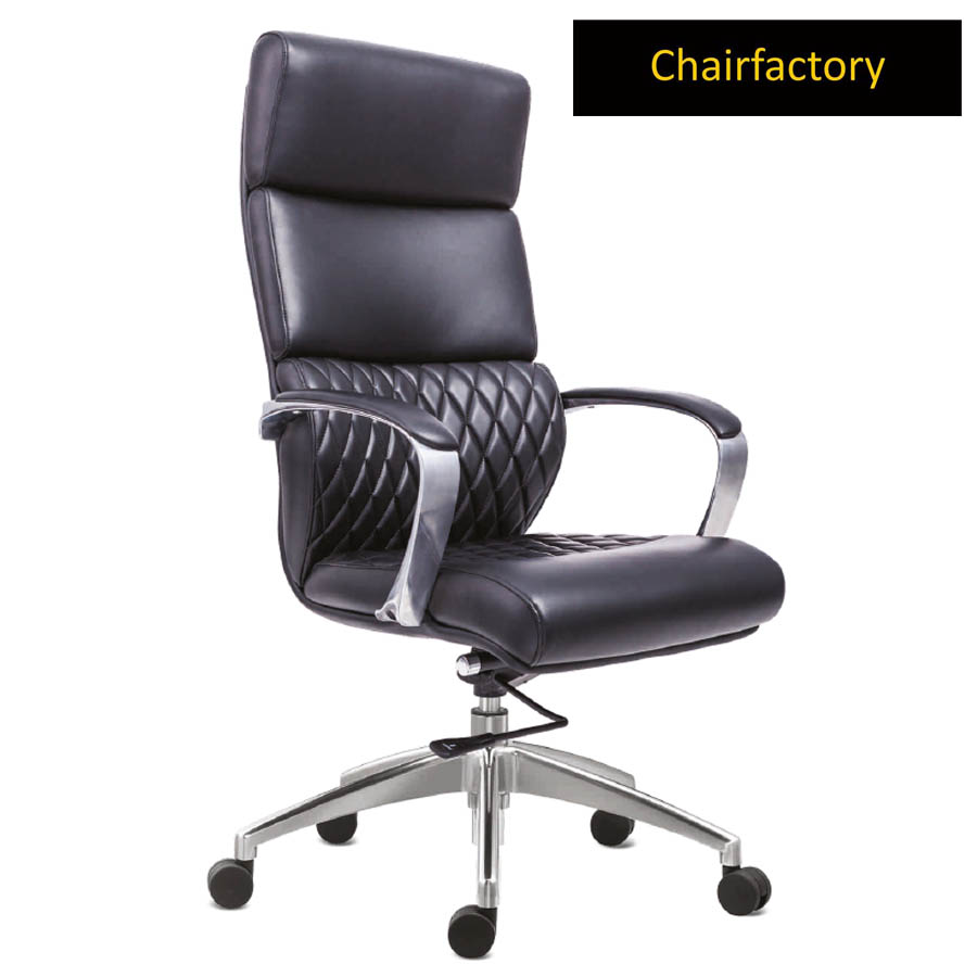 Krogsta High Back Leather Chair