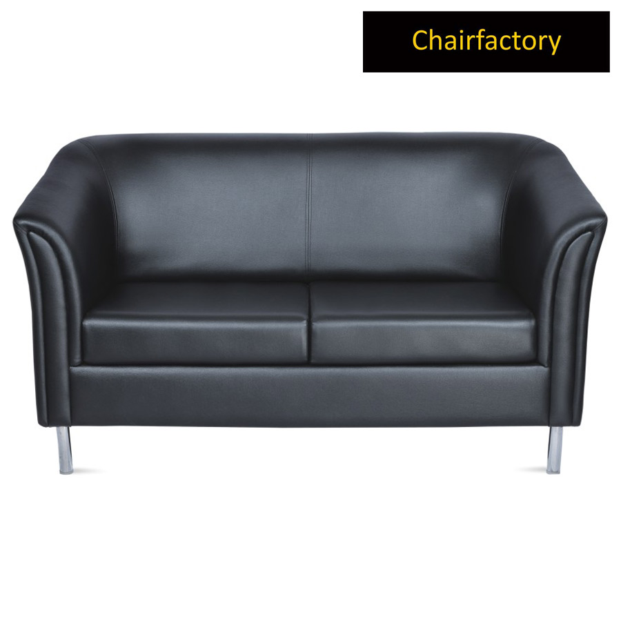 Majestic 2 Seater Leather Office Sofa