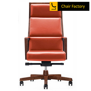 Montgomary High Back 100% Genuine Leather Chair