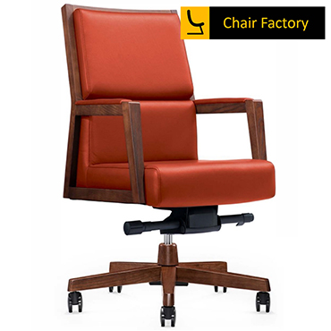 Montgomary Mid Back 100% Genuine Leather Chair