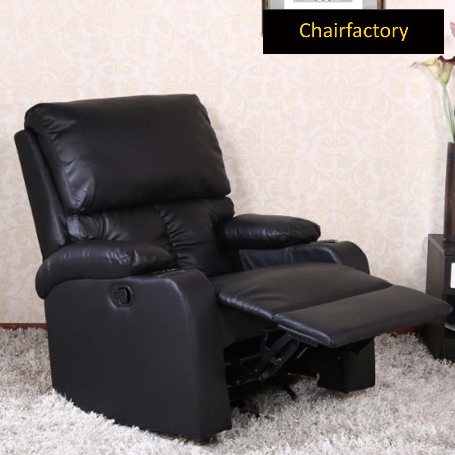 Rosson Black Recliner Single Seater Sofa