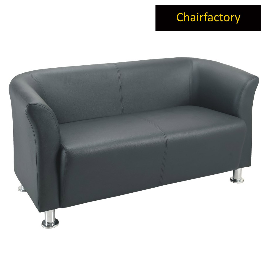 Supreme 2 Seater Leatherette Office Sofa