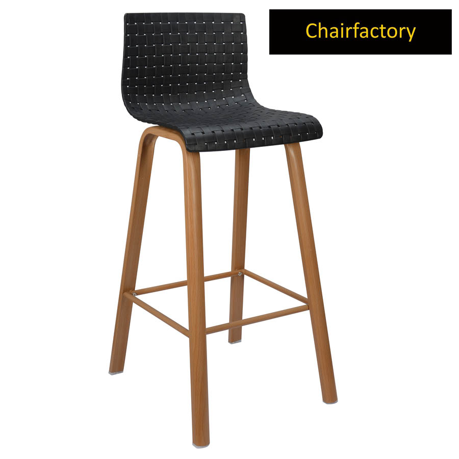 Theola Bar Stool With Metal Base