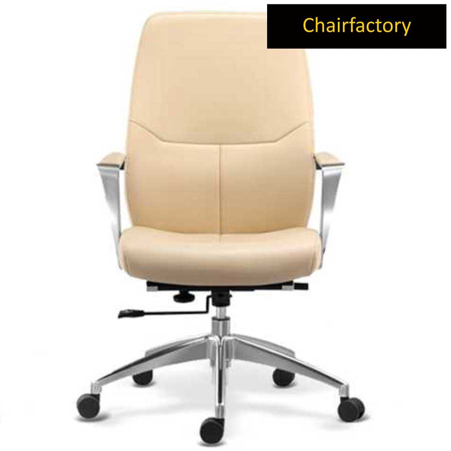 Tricia Mid Back Leather Chair