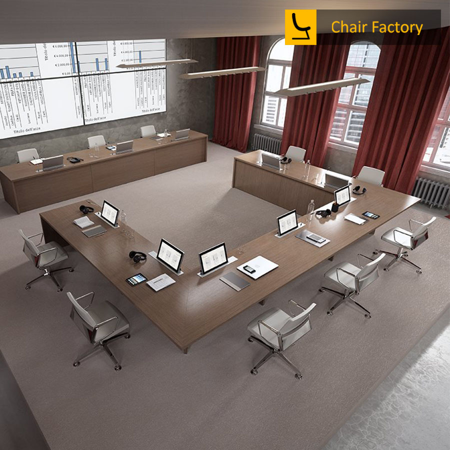 U Shape 7 Seater Conference Table