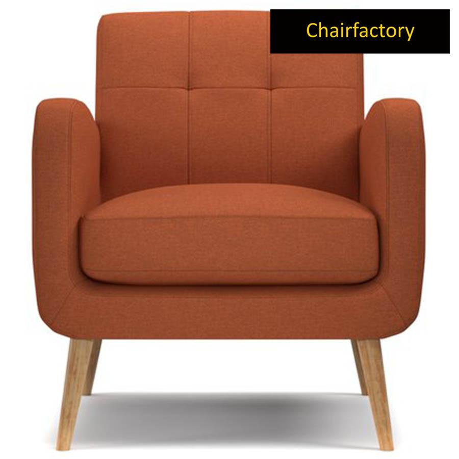 Valoma Orange Accent Chair