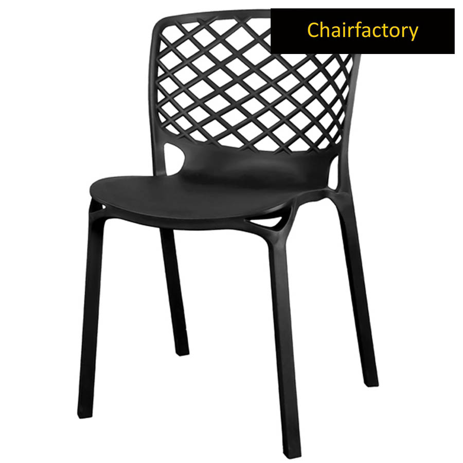 Venecy Black Cafe Chair