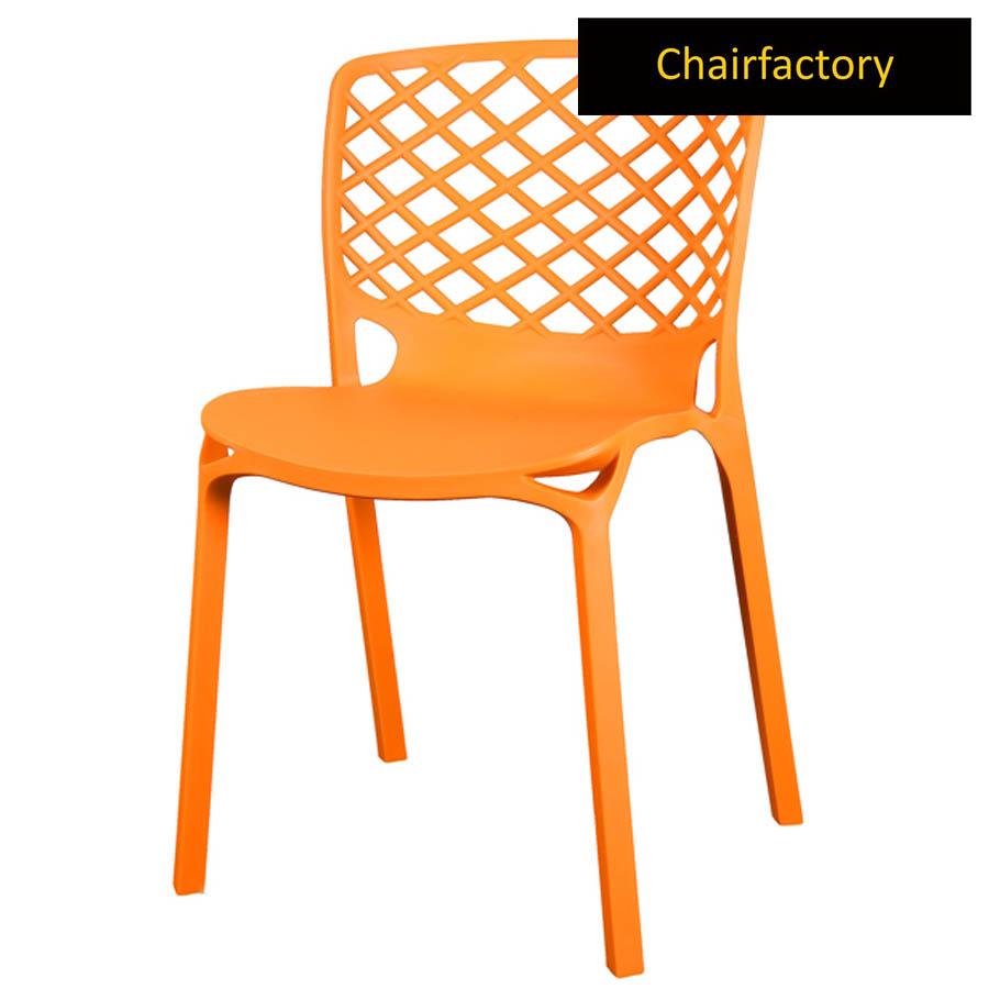 Venecy Orange Cafe Chair