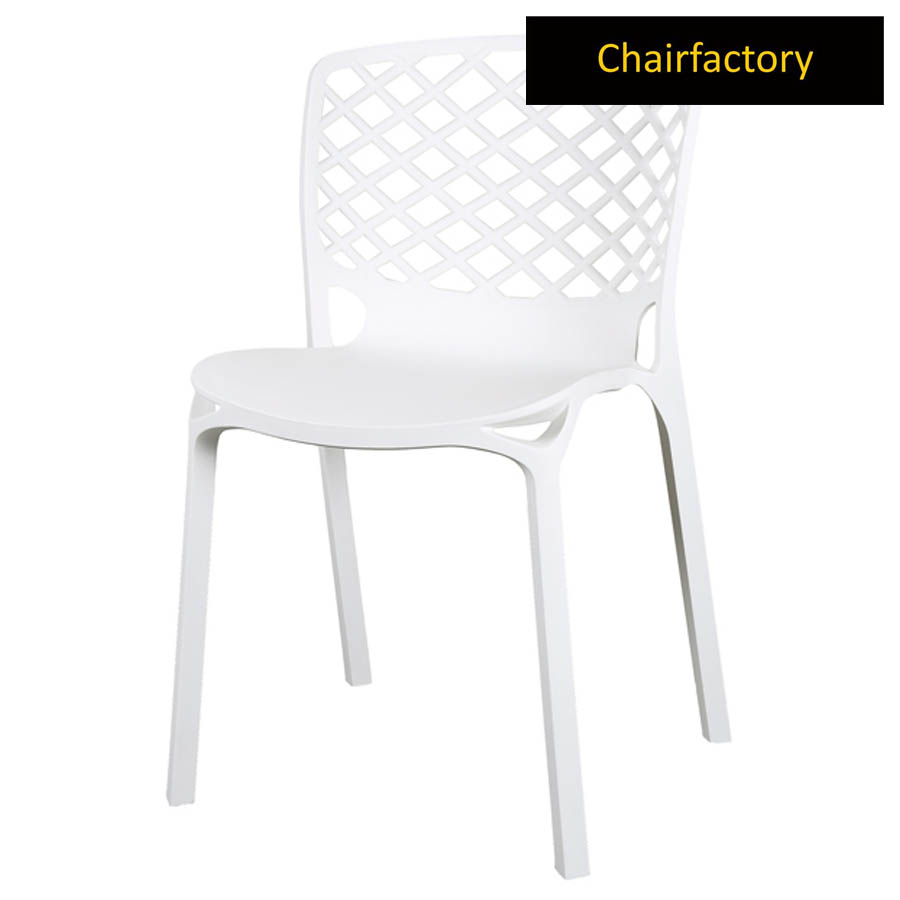 Venecy White Cafe Chair