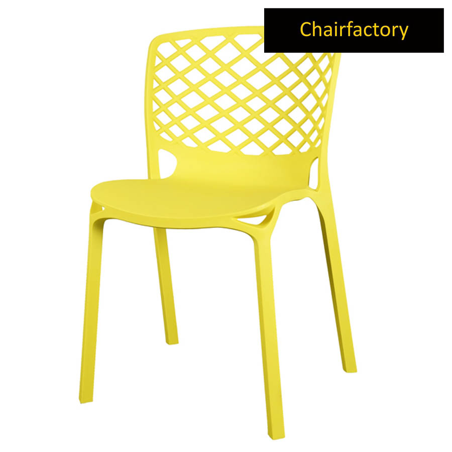 Venecy Yellow Cafe Chair