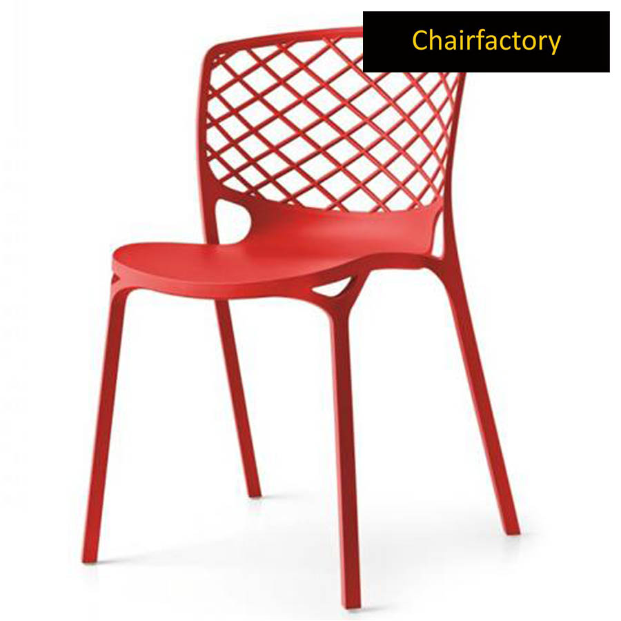 Venecy Red Cafe Chair