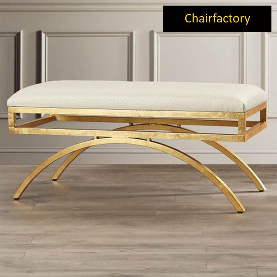 Alvor Upholstered Metal Bench