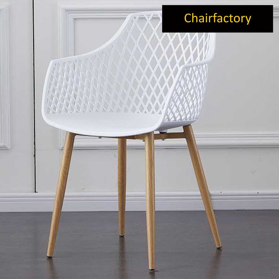 Arabelle White Cafe Chair
