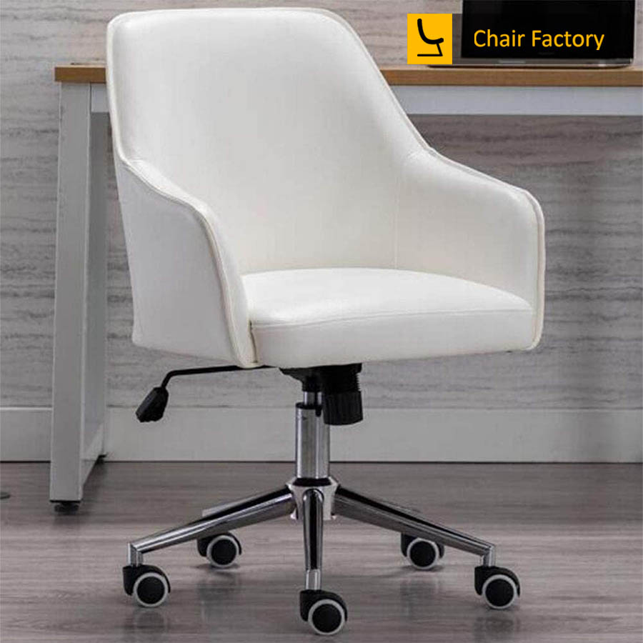 Arlo White Designer Chair
