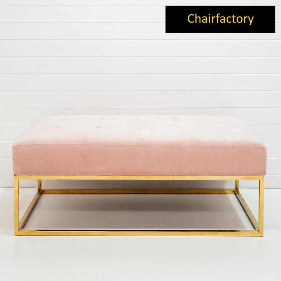 Calp Upholstered Metal Bench