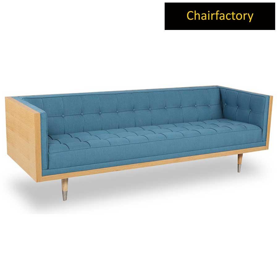 Cordero 3 Seater Blue Chesterfield Sofa