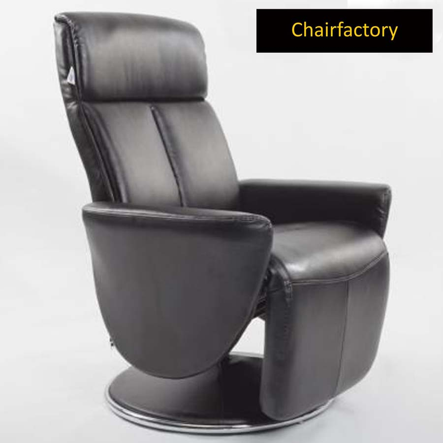Crandell Black Recliner Chair