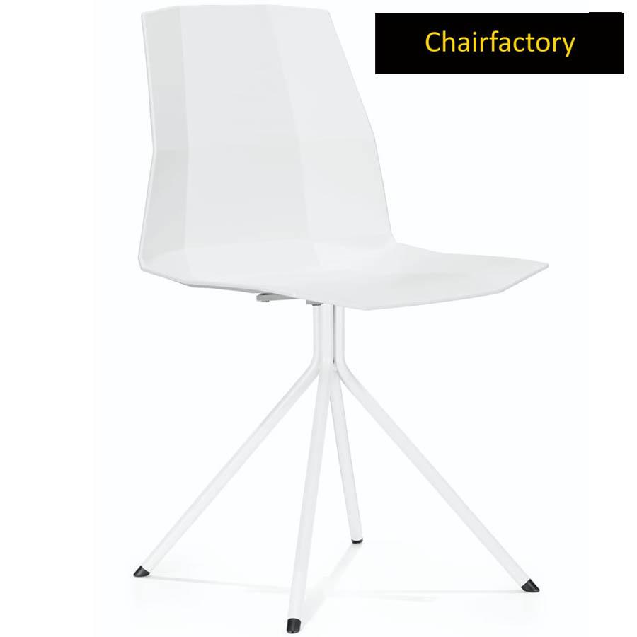 Cubetox White Cafe Chair