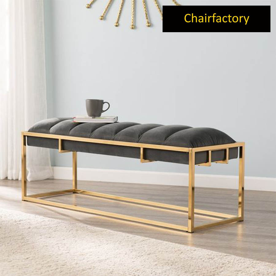 Estella  Upholstered Metal Bench
