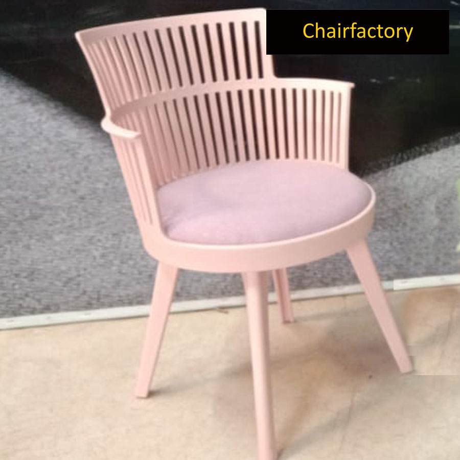 Evonne Pink Cafe Chair