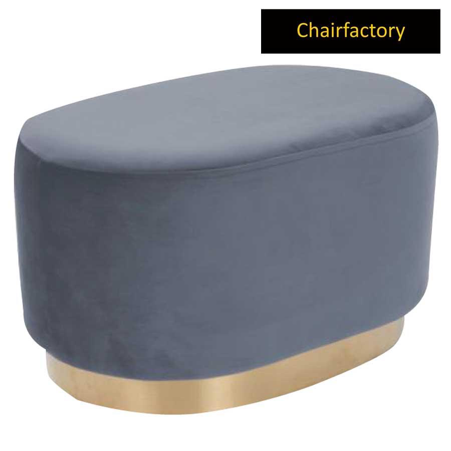 Glenna Designer Grey Pouffe Stool