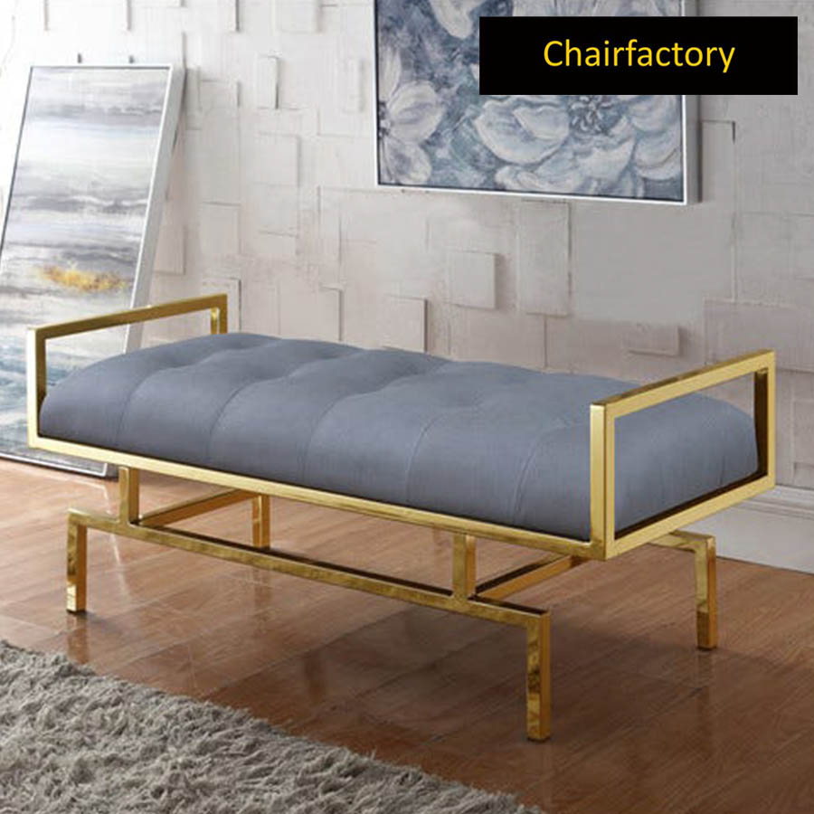 Hellin Upholstered Metal Bench