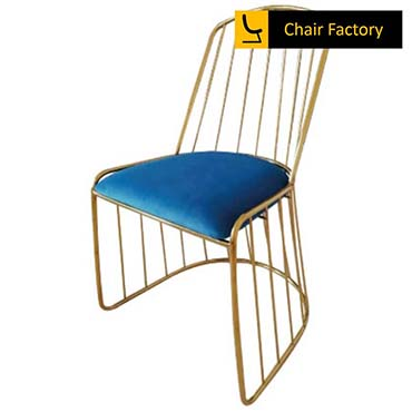 Hortensia Gold Plated & Royal Blue Velvet Chair