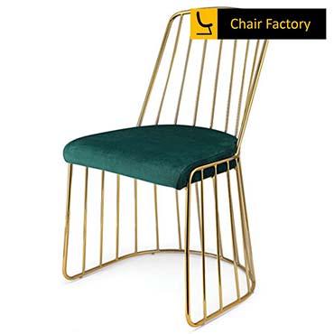 Hortensia Gold Plated & Emerald Green Velvet Chair