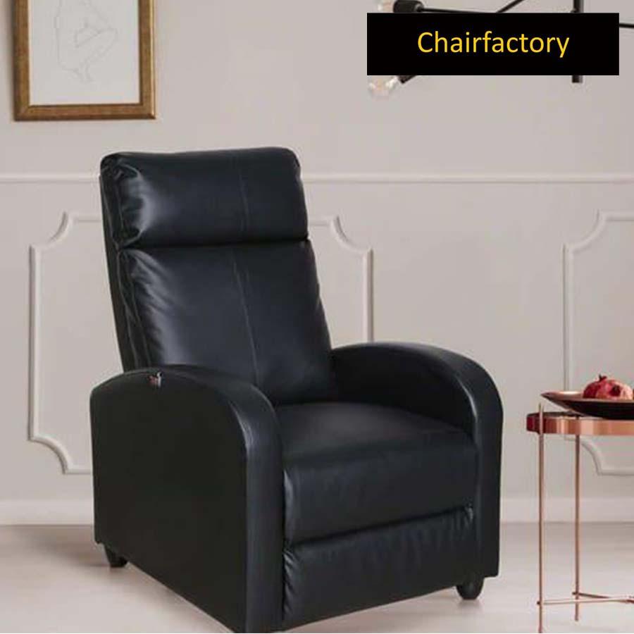 Ingram Black Recliner Chair