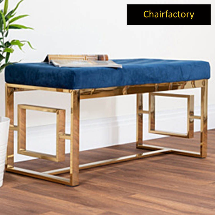 Lorca Upholstered Metal Bench