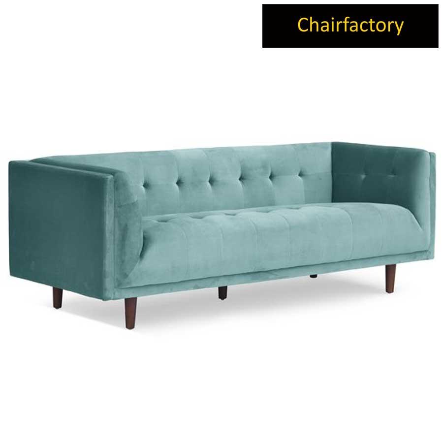 Malmo Blue Velvet 3 Seater Sofa