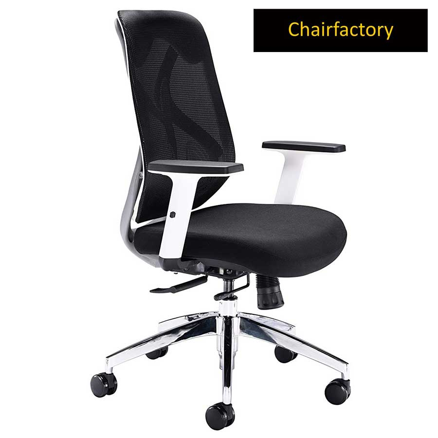 White Octopus ZX Mid Back Ergonomic Office Chair