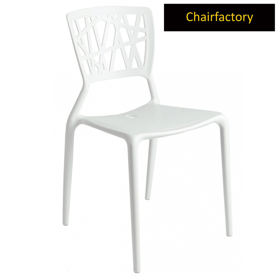 White Viento Replica Cafe Chair