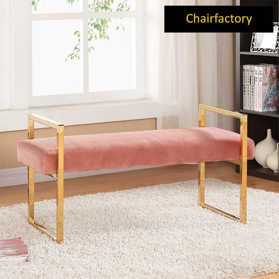 Zorita Upholstered Metal Bench